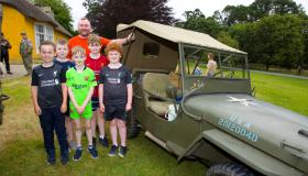 WW2 Jeeps on show at Derrymore House