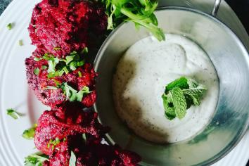 PAUL WATTERS: Tandoori chicken thigh with a minted yoghurt