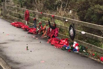 Vandals kicked wreaths 'as if they were playing with them in schoolyard'
