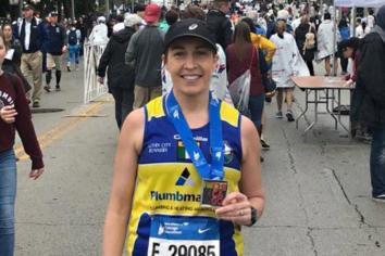 Fiona excels in Chicago Marathon