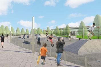 Plans for pop-up park at Albert Basin site