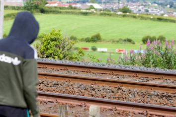 Playing on railway lines is fraught with danger