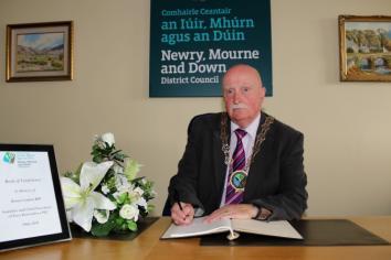Book of condolence to Newry businessman