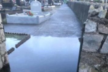 'Heartbreak' for families as Newry graveyard is damaged by flooding