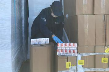 Three arrested after Newry £Multi million cigarette bust