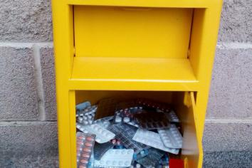 Newry, Mourne and Down PCSP install RAPID Bin at Mulkerns Eurospar