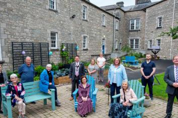 Outdoor space for staff and service users to sow and grow
