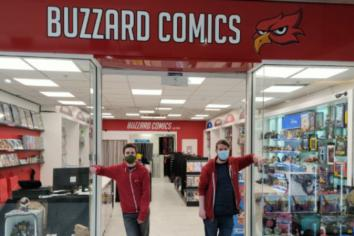 """Business """"is a buzzing"""" at Buzzard Comics Newry."""