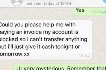 WhatsApp and text scam warning